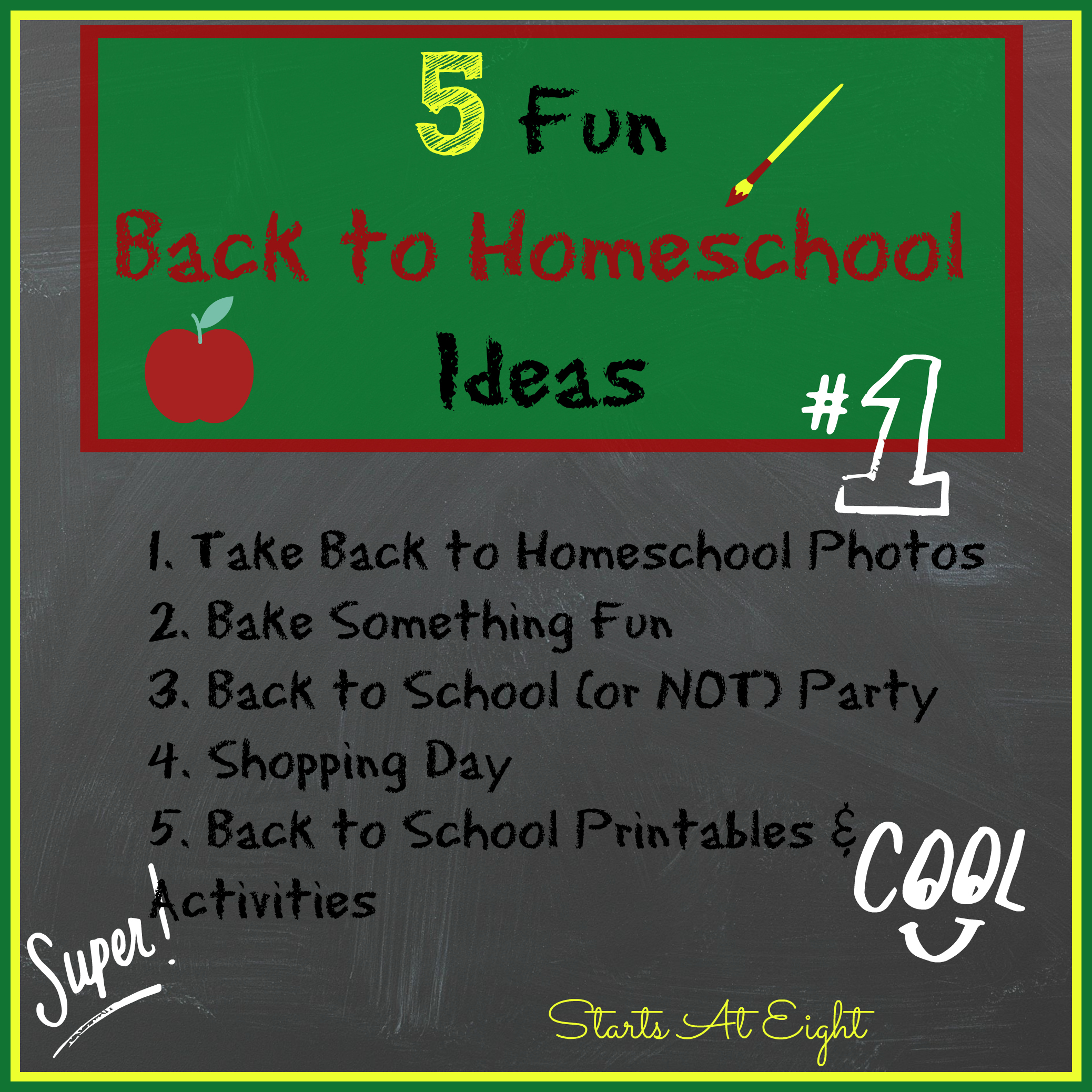 5 Ideas For A One Bedroom Apartment With Study Includes: 5 Fun Back To Homeschool Ideas