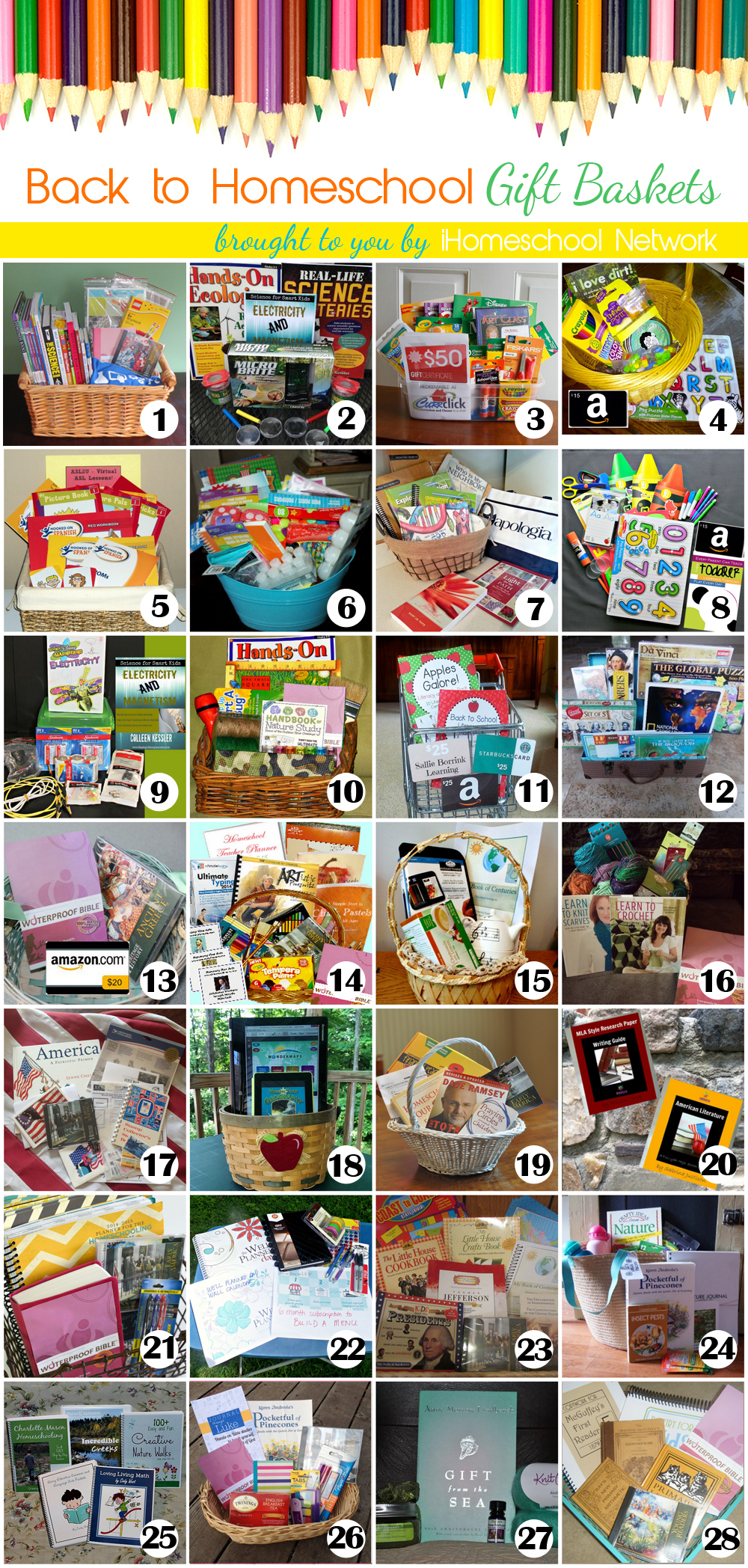 iHN Back to Homeschool Gift Baskets