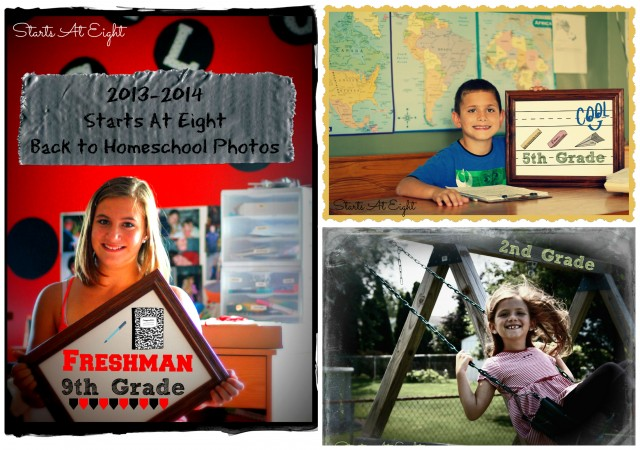 Back to Homeschool Photo Collage
