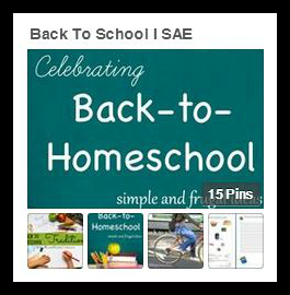 Back to School Pinterest SAE Board