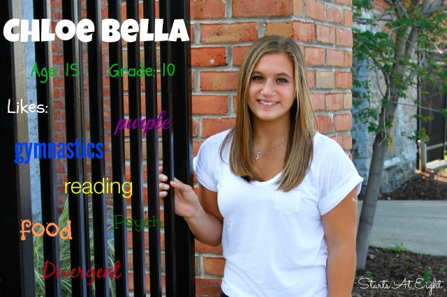 Not Back to School Photos 2014 - Chloe Bella