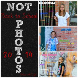 Not Back to School Photos 2014 from Starts At Eight