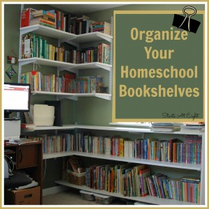 Organize Your Homeschool Bookshelves from Starts At Eight