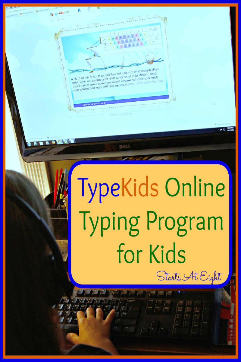 TypeKids.com is an online touch typing program for kids. It's a great mix of fun and learning for elementary age kids. Easy to implement in your homeschool as well as a great way to entertain younger ones with something educational! A Review from Starts At Eight