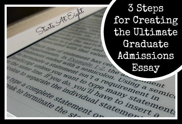psychology graduate school admissions essays