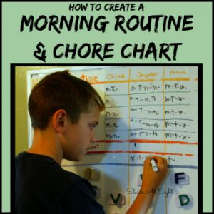 How To Create A Morning Routine & Chore Chart from Starts At Eight