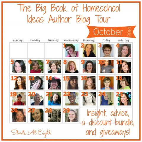 The Big Book of Homeschool Ideas Author Blog Tour from Starts At Eight