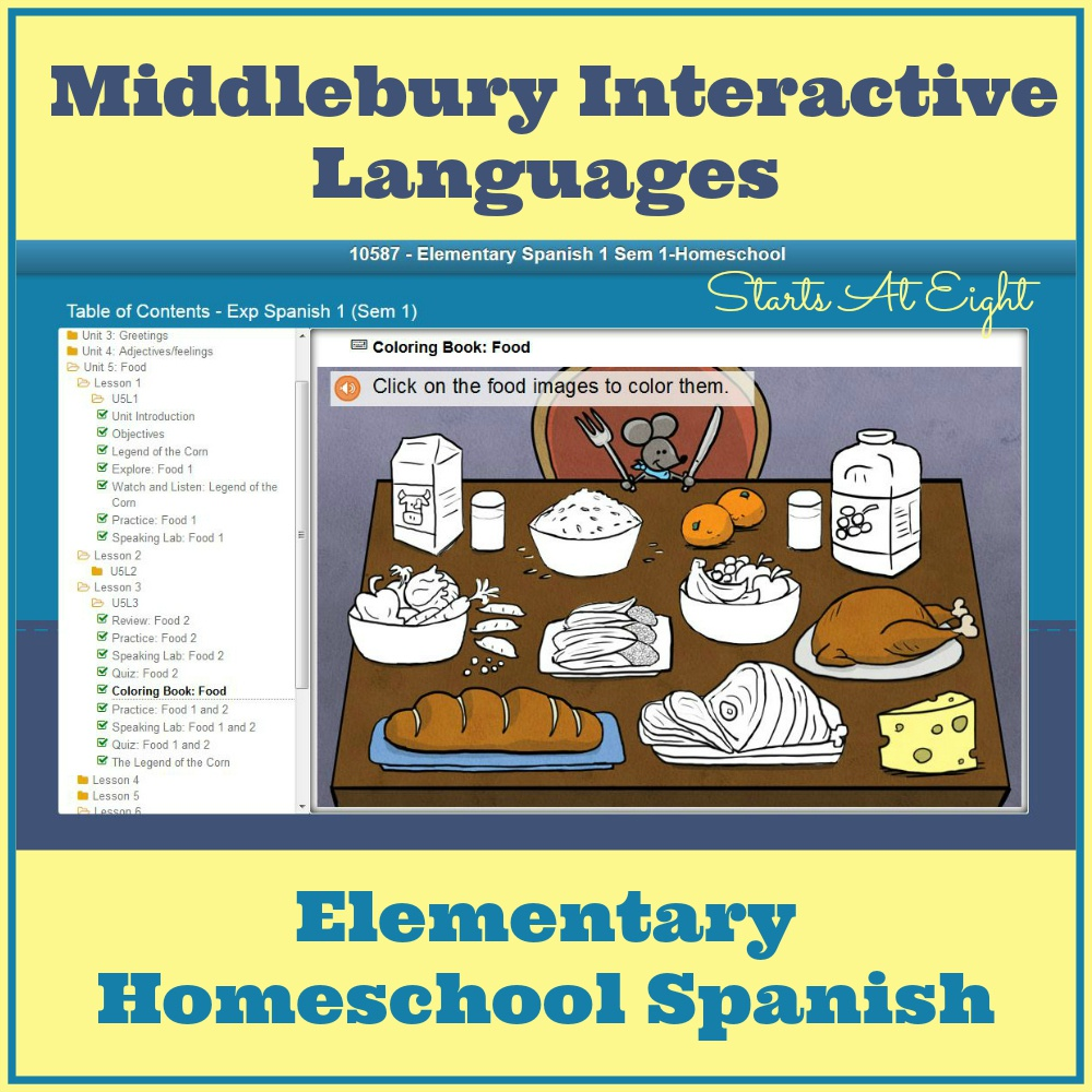 Elementary Homeschool Spanish with Middlebury Interactive