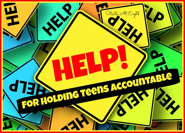 Help for Holding Teens Accountable from Starts At Eight