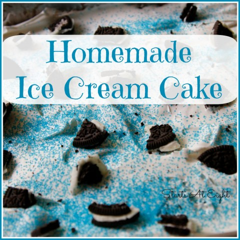 Homemade Ice Cream Cake from Starts At Eight