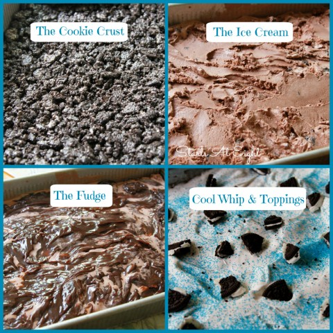 Homemade Ice Cream Cake Steps from Starts At Eight