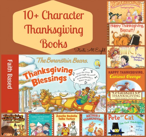 10+ Character Thanksgiving Books from Starts At Eight