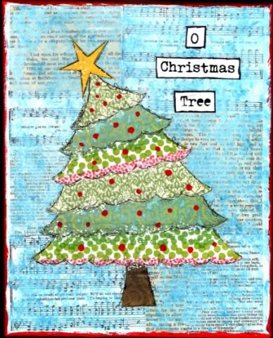 Winter Wonderland: Christmas Tree Art from Starts At Eight