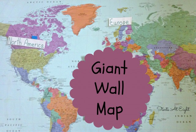 Homeschool High School Geography Resources - Giant Wall Map from Starts At Eight