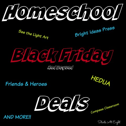 Homeschool Black Friday Deals from Starts At Eight