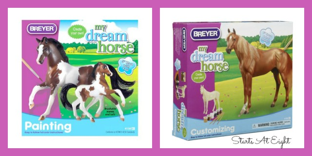 Paintable Horse Figures for Horse Loving Girls from Starts At Eight