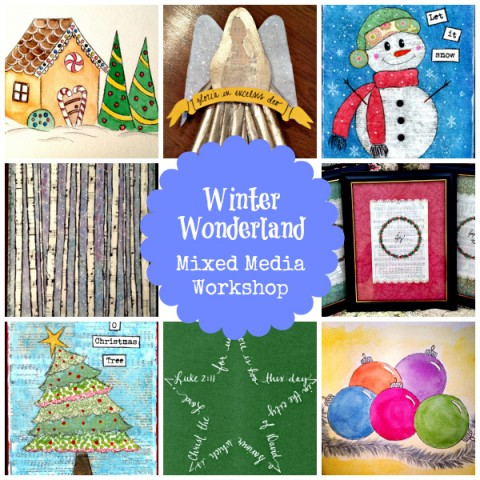 Winter Wonderland: Mixed Media Workshop from Starts At Eight