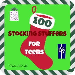 100 Stocking Stuffers for Teens from Starts At Eight