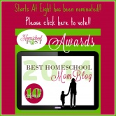 Starts At Eight Was Nominated for Best Homeschool Mom Blog