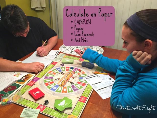 CASHFLOW Board Game: Calculate On Paper