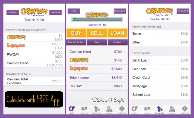CASHFLOW Board Game: Calculate with FREE App