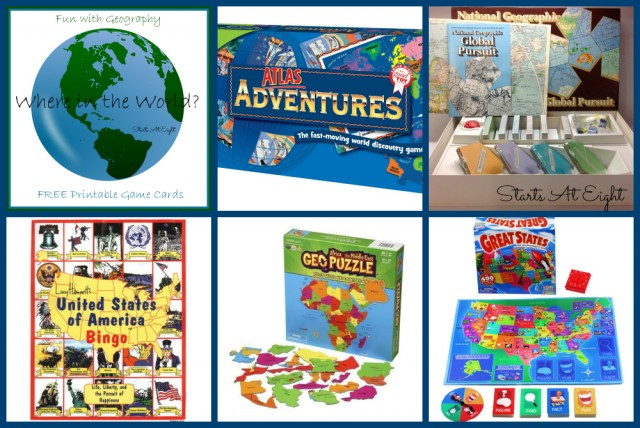 Teach Geography: Geography Games from Starts At Eight