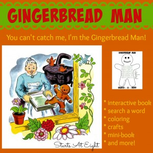 Gingerbread Man - Printables, Activities, and More! from Starts At Eight