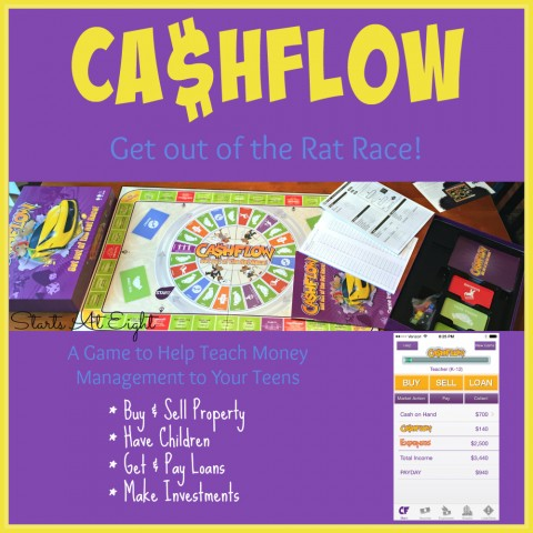 Money Management for Teens with the CASHFLOW Board Game from Starts At Eight