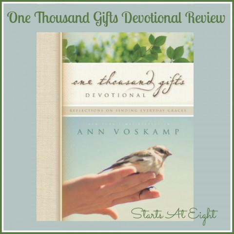 One Thousand Gifts Devotional Review from Starts At Eight