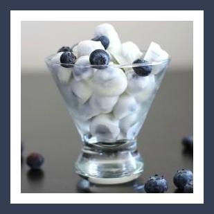 Healthy Homemade Snacks: Frozen Fruit & Yogurt from Starts At Eight