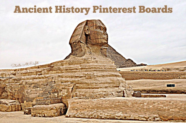 Ancient History Pinterest Boards from Starts At Eight