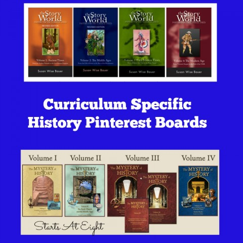 Curriculum Specific History Pinterest Boards from Starts At Eight