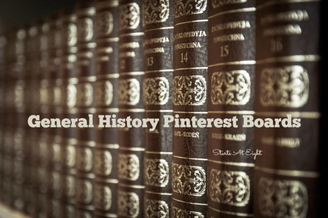 General History Pinterest Boards from Starts At Eight