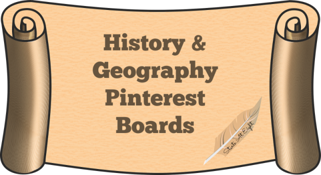 History & Geography Pinterest Boards from Starts At Eight