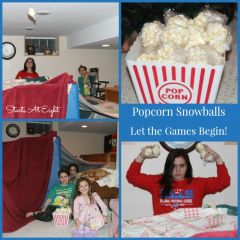 Let the Games Begin - Popcorn Snowball Fight from Starts At Eight