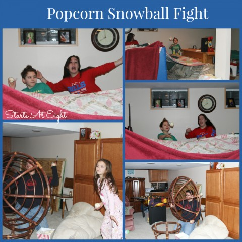 Popcorn Snowball Fight from Starts At Eight