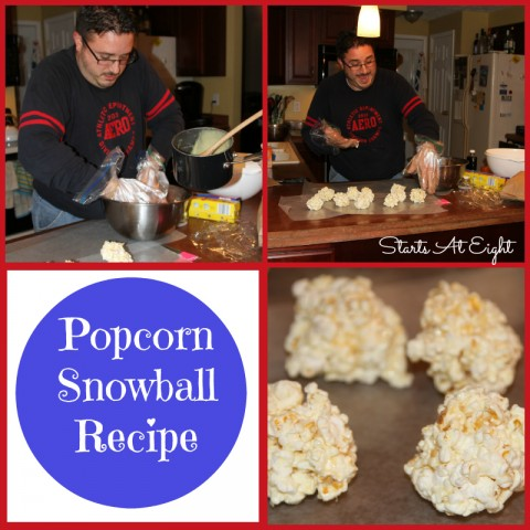 Popcorn Snowball Recipe from Starts At Eight