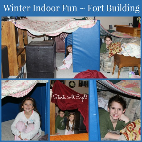 Winter Indoor Fun - Fort Building from Starts At Eight