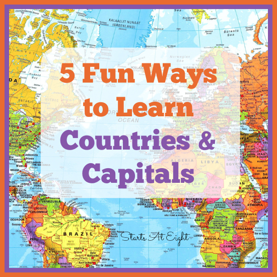photo about State and Capitals Flash Cards Printable named 5 Entertaining Methods toward Understand Nations and Capitals - StartsAtEight