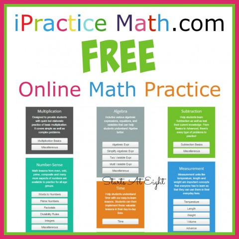 FREE Online Math Practice from iPracticeMath.com from Starts At Eight