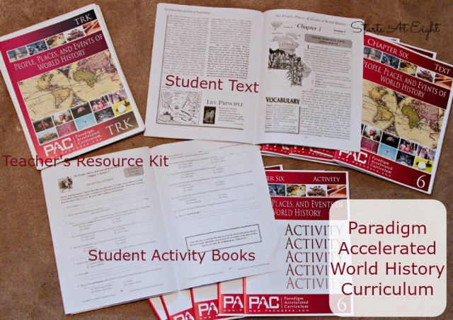 Paradigm Accelerated World History Curriculum Books from Starts At Eight