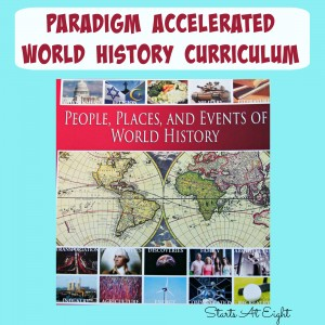 Paradigm Accelerated World History Curriculum Review from Starts At Eight