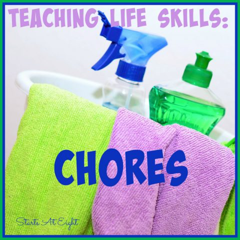 Teaching Life Skills: Chores from Starts At Eight