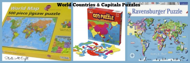 World Countries & Capitals Puzzles