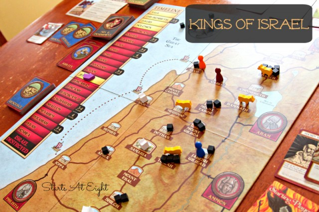 Kings of Israel Board Layout from Starts At Eight