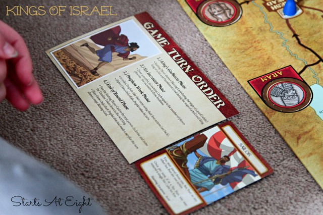 Kings of Israel - Game Turn Order from Starts At Eight