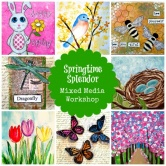 Springtime Splendor: Mixed Media Art for Kids