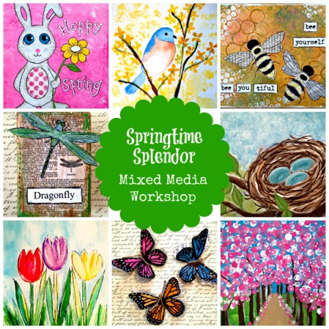 Springtime Splendor: Mixed Media Art for Kids from Starts At Eight