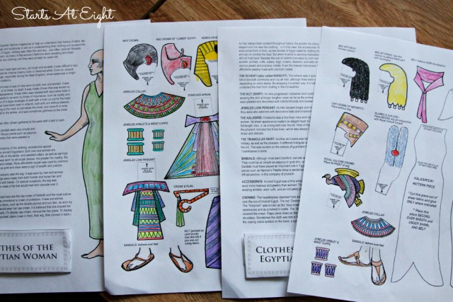 Ancient Egypt Paper Dolls from Homeschool in the Woods - Starts At Eight