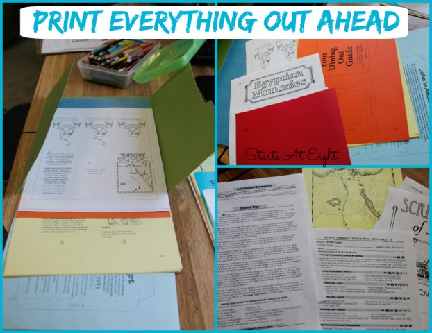Ancient Egypt Unit Study Print Ahead - Starts At Eight
